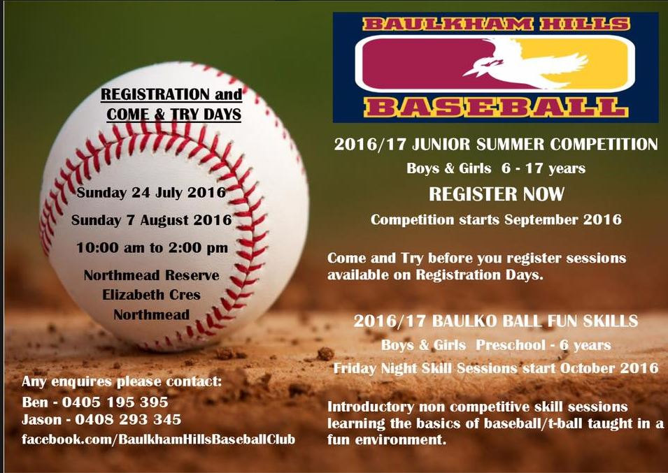 Junior Registrations